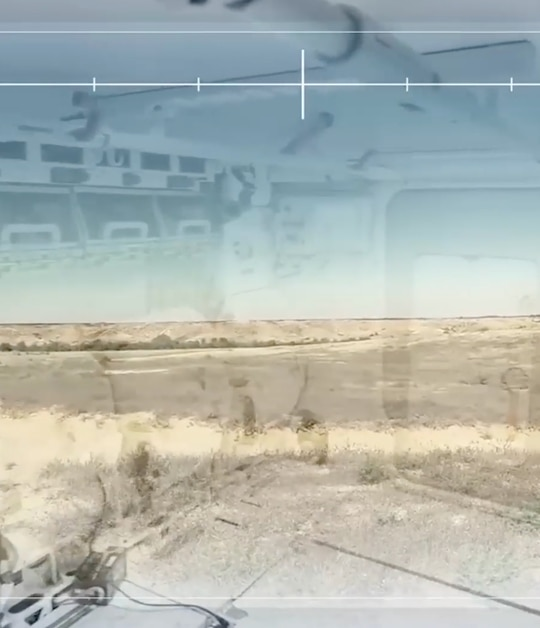 A sample of the image feed using the camera-helmet system. (Defense News)