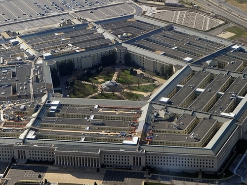 As many as 40 percent of Pentagon employees may be asked to return to the office June 15 under the agency's phase one reopening plan. (AFP/Getty Images)