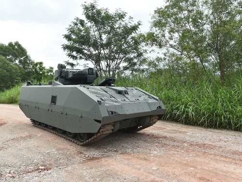 Developed jointly by Singapore's Defence Science and Technology Agency, Singapore Technologies Kinetics and ST Engineering's land systems division, the next-generation AFV is expected to provide Singapore's armored forces with enhanced firepower, protection, mobility and situational awareness. (Courtesy of ST Kinetics)