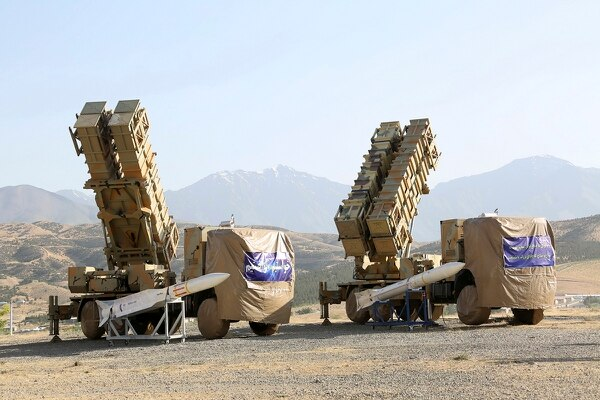 This photo released by the official website of the Iranian Defense Ministry on June 9, 2019, shows the Khordad 15, a new surface-to-air missile battery at an undisclosed location in Iran. The system uses locally made missiles that resemble the HAWK missiles that the U.S. once sold to the shah and later delivered to the Islamic Republic in the 1980s Iran-Contra scandal. (Iranian Defense Ministry via AP)