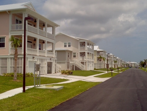 This 111-home family housing development built in 2011 by a private developer at Trumbo Point, an annex of Naval Air Station Key West, is one of many military family housing communities managed by private companies around the country. (Photo by Chris Carson)