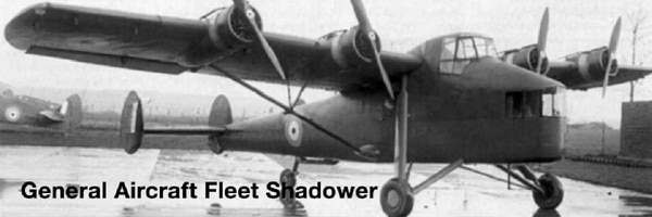 The General Aircraft Fleet Shadower, a British long-range patrol aircraft, was designed to cruise noiselessly and thus undetected at night. (HistoryNet archives)