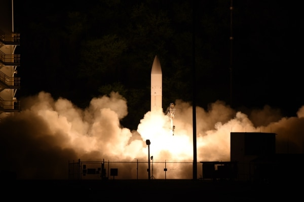 The U.S. tested a hypersonic glide body March 19, 2020, from the Pacific Missile Range Facility in Kauai, Hawaii. (U.S. Navy)