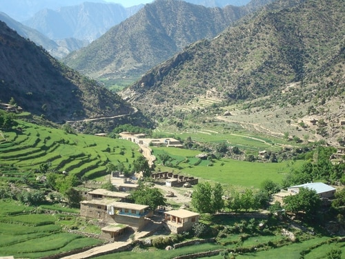 A decade after the Battle of Wanat, Army leaders continue to use the episode to prepare small units for intense combat. Pictured here is the village of Wanat, Afghanistan, in Nuristan province, looking southward, July 2008. (Army)
