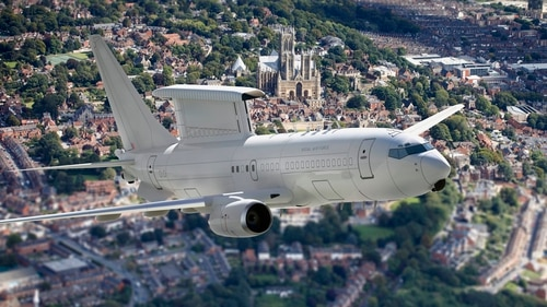 Britain's Royal Air Force will operate a fleet of five Wedgetail early warning and control aircraft in an almost $2 billion deal with Boeing. (British Ministry of Defence)