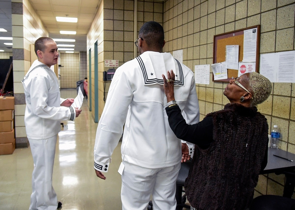Navy's new dress white uniforms put on display at Recruit