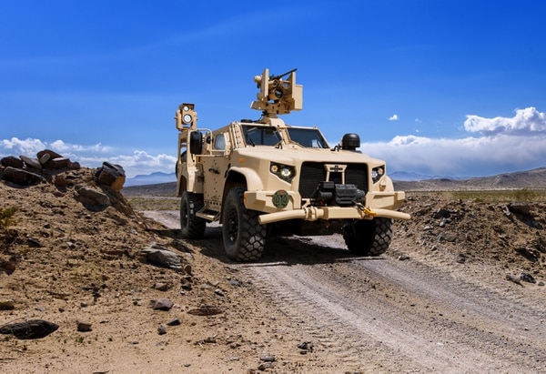 The Joint Light Tactical Vehicle low-rate initial production will be sustained under Trump's budget. (Courtesy of Oshkosh)
