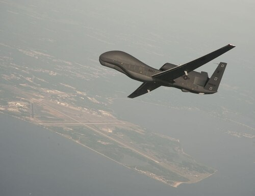 A Navy Global Hawk drone was shot down by Iran on June 20, 2019. (Erik Hildebrandt / Navy)