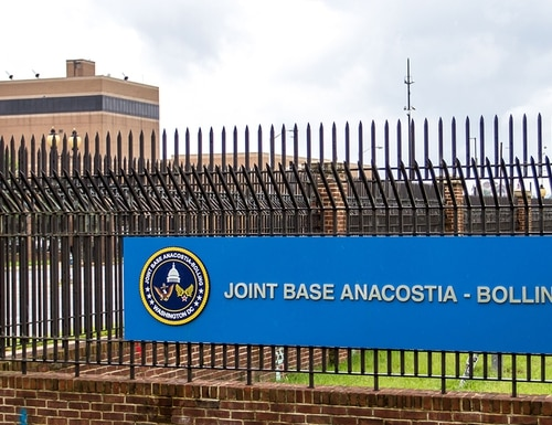 Joint Base Anacostia-Bolling was one of the sites in the Washington, D.C.-area, that received a suspicious package on March 26, 2018. (Lt. Cmdr. Jim Remington/Navy)