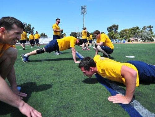 Fitness rule changes are one way the Navy plans to keep sailors in uniform. (MCS Christopher Pratt/Navy)