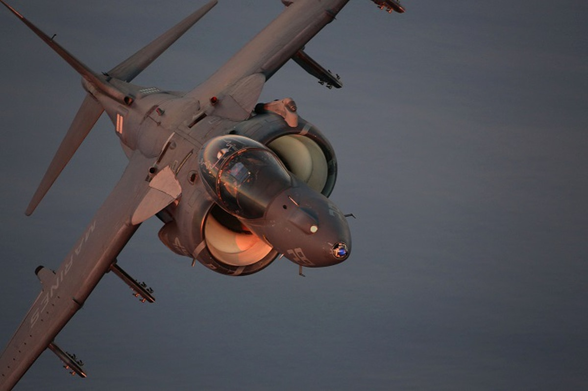 Investigation finds stray bolt in Marine Harrier's engine