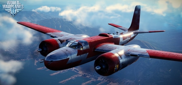 The Douglas A-26B Invader, one of many aircraft from multiple eras available to