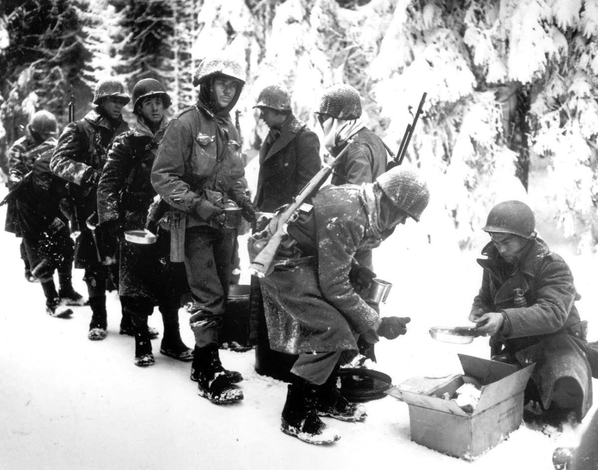 Image result for us soldiers in the ardennes food