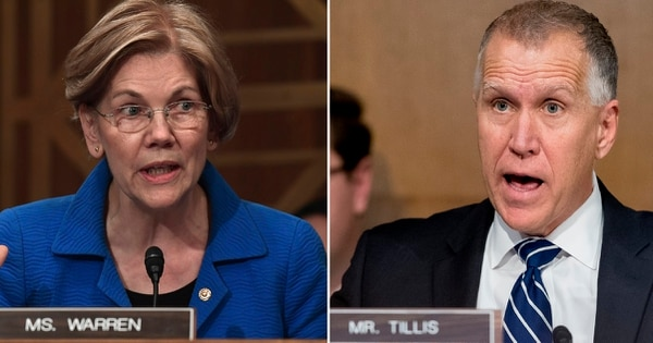 Sens. Elizabeth Warren, D-Mass., and Thom Tillis, R-N.C., introduced bipartisan legislation they say would combat