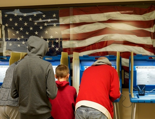 Residents vote early at the Douglas County Election Commission office in Omaha, Neb., on Nov. 2, 2018. (Nati Harnik/AP)
