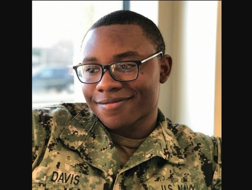 Damage Controlman Fireman Sintereius Davis died in a traffic accident July 11, according to the Navy. (Facebook)