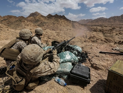 Your next belt of .50 caliber ammunition could weigh 10 to 20 pounds less than it does now, if industry representatives are able to meet the needs of a recent Marine Corps request. (Staff Sgt. Vitaliy Rusavskiy/Marine Corps)