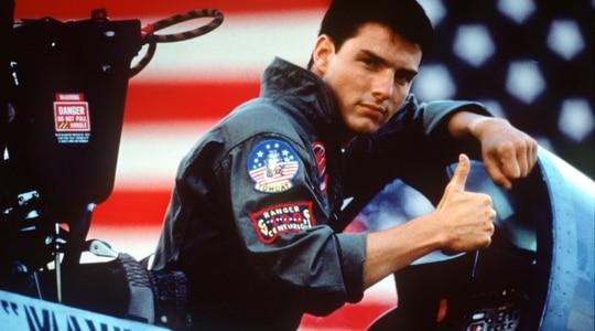 Tom Cruise, seen here in the 1986 film