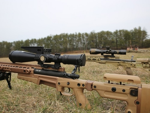 The Marine Corps recently selected the Nightforce Advanced Tactical Riflescope for its newest sniper rifle the Mk 17 Mod 3. (Kristen Murphy/Marine Corps)