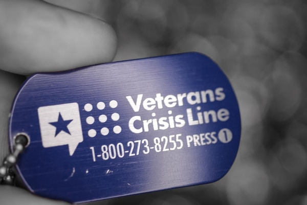 The Veteran's Crisis Line -- available to veterans, troops and their families -- operates 24 hours a day, seven days a week. (Zachary Hada/Air Force)