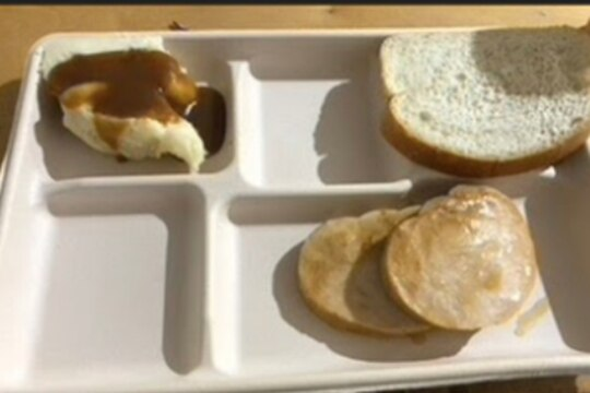 This is a very, very sad ROM meal. We want to see pics of your very, very sad ROM meals. (Photo provided to Army Times)