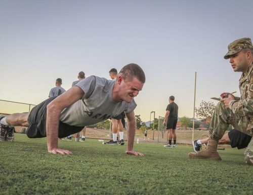 The key to maxing your pushup output isn't more pushups, the author writes — it's a smarter, strength-focused workout plan. (Sgt. 1st Class Brent Powell/Army)