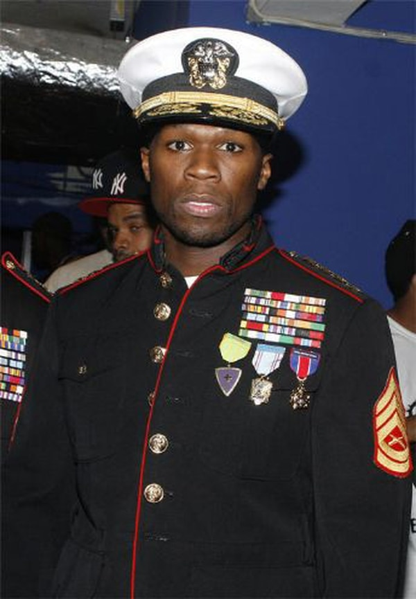 Gunnery Sgt. Cmdr. Curtis '50 Cent' Jackson reporting for duty, your majesty.