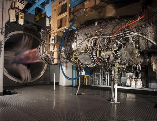 A Pratt & Whitney F135 engine, used to power the F-35 Lightning II fighter aircraft, undergoes testing at Arnold Air Force Base in Tullahoma, Tenn. (PRNewsfoto/Pratt & Whitney)