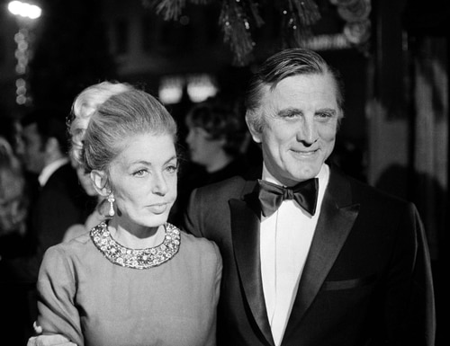 This Dec. 19, 1969 photo shows actor Kirk Douglas and his wife, Anne, attending the premiere of
