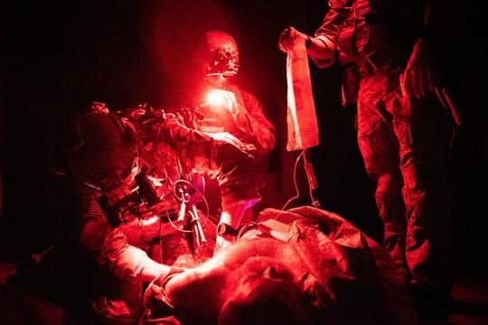 Army Ranger medics from 2nd Battalion, 75th Ranger Regiment train in August 2019. (Sgt. Jaerett Engeseth/Army)