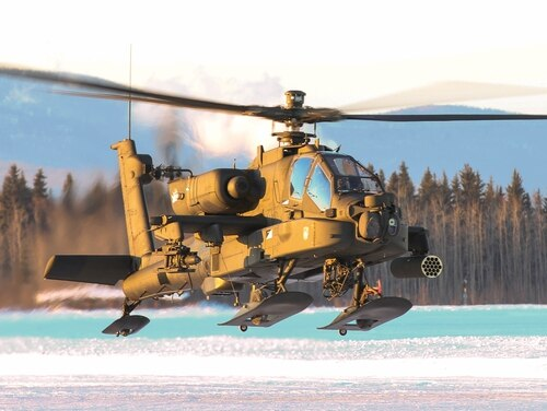 AH-64 Apache aviators from 1st Battalion, 25th Attack Reconnaissance Battalion, conduct pilot certification training Jan. 20, 2016, at Fort Wainwright, Alaska. The 1-25th ARB is in the process of certifying its aviators to validate the unit for potential future deployments in the Pacific and across the world.