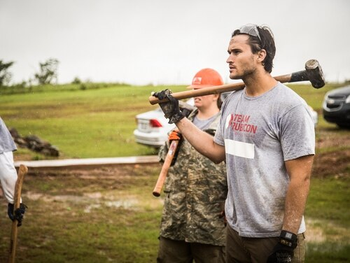 Jake Wood, the founder and CEO of Team Rubicon, will be honored in July with the Pat Tillman Award for Service. Wood, a Marine veteran, served in Iraq and Afghanistan as a scout sniper. (Courtesy photo by Kirk Jackson via Team Rubicon)