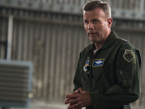 U.S. Air Force Gen. Tod D. Wolters, pictured here during a visit to Spangdahlem Air Base, Germany, in 2016, has been nominated to lead European Command and become NATO's supreme allied commander. (Staff Sgt. Jonathan Snyder/Air Force)