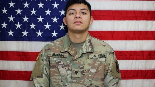Spc. Vincent Sebastian Ibarria, 21, from San Antonio, Texas, died in a vehicle rollover accident July 3, in Farah, Afghanistan. DoD photo.