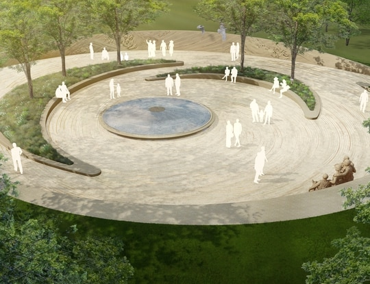 The National Desert Storm War Memorial Association design concepts for a memorial to be built near the National Mall in Washington D.C. (NDSWMA)