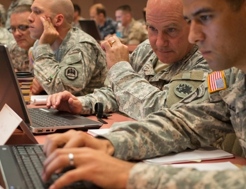 Army Cyber Command is building cyber planning organizations within the staffs at Africa Command, Central Command and Northern Command. (Staff Sgt. Tracy J. Smith/Georgia Army National Guard)