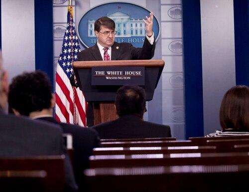 Veterans Affairs Secretary Robert Wilkie speaks in the Briefing Room of the White House on Nov. 8. (Andrew Harnik/AP)