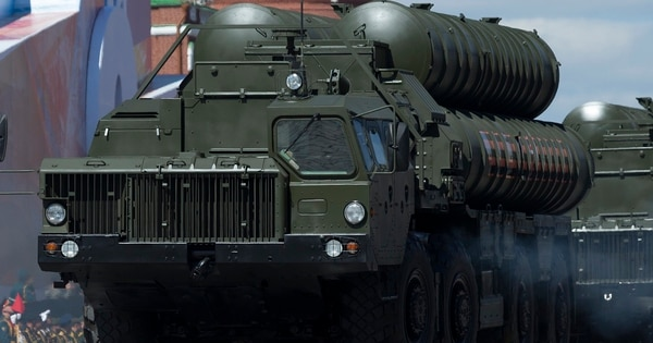 Turkey has received the Russian S-400 air defense missile system, despite complaints from its NATO allies. (Ivan Sekretarev/AP)