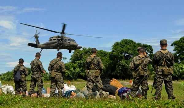 The Army has been working with Honduran troops in their fight against drug trafficking. (Capt. Christopher J. Mesnard/Air Force)