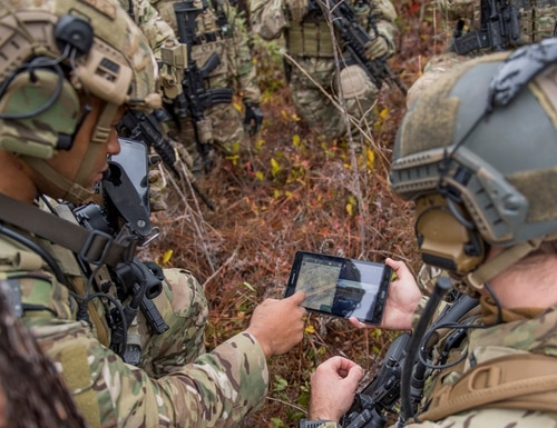 Members of the 6th Special Operations Squadron, perform a training exercise showcasing the capabilities of the Advanced Battle Management System at Duke Field, Fla., on Dec. 17, 2019. (Tech Sgt. Joshua J. Garcia/U.S. Air Force)