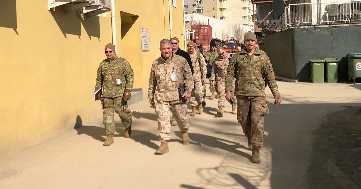Top US general in Mideast in Kabul to discuss peace process with Afghan president