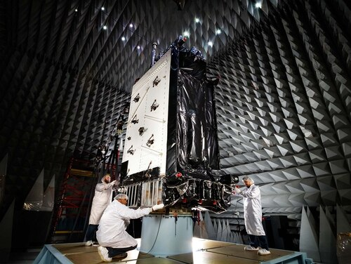 NTS-3 will be more than just a testbed for future GPS technologies, it will also be able to deliver capabilities directly to the war fighter, supplementing GPS III satellites like the one pictured here. (Courtesy Lockheed Martin)