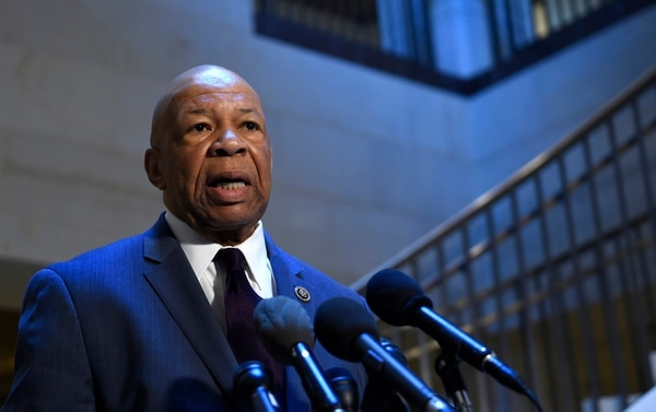 Rep. Elijah Cummings, D-Md., the ranking member on the House Benghazi Committee, speaks to reporters before the start of the committee's closed-door hearing on Capitol Hill in Washington, Wednesday, Jan. 6, 2016. The House committee is looking into the deadly 2012 attacks in Benghazi, Libya and is interviewing former CIA director David Petraeus as the investigation enters its third calendar year, and a presidential election year. (AP Photo/Susan Walsh)
