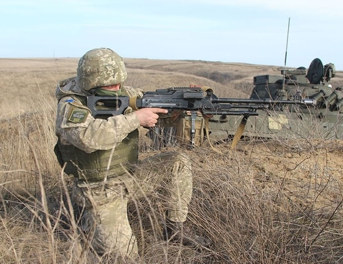 A two-day tactical Coast Defense Training took place in February at one of the training grounds in the area of the Joint Forces Operation. (Photo courtesy of the Ukraine Ministry of Defense)