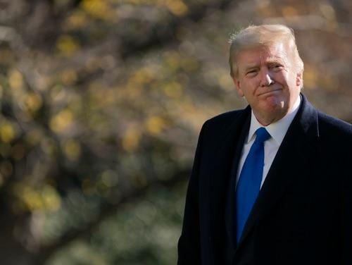 President Donald Trump walks on the South Lawn of the White House on Nov. 29, 2020. (Patrick Semansky/AP)