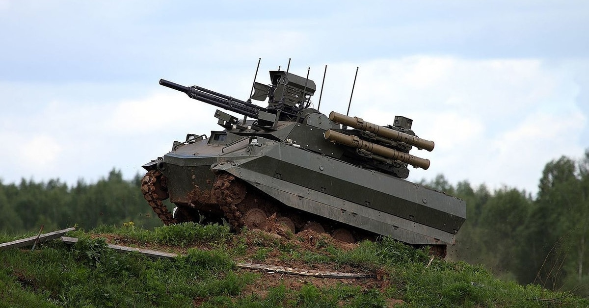 russia confirms its armed robot tank was in syria