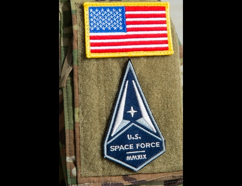 The Space Force began building its cyber forces, aligning them with Air Force cyber teams. (Senior Airman Shannon Bowman/Air Force)