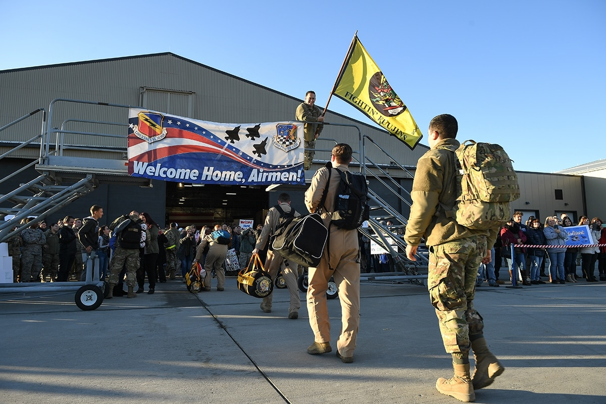 US Airmen Returning Home after Deployment – November 2019