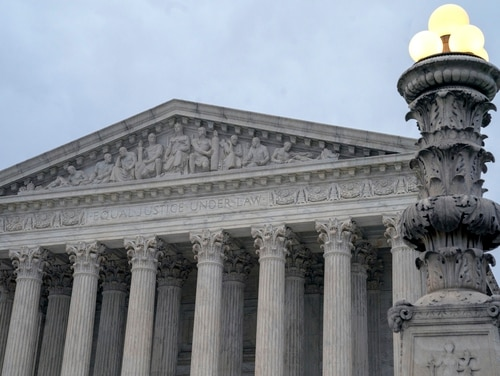The Supreme Court in Washington, D.C. is shown in January 2019. On Monday, the court opted not to hear a case which challenged the legal precedent barring individuals from suing the military for medical malpractice. (J. Scott Applewhite/AP)