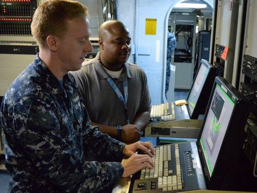 Forthcoming cybersecurity controls are designed to help DoD and small business work together to protect sensitive data and help industry comply in a fairer way depending on the types of systems they're asked to defend. (Rick Naystatt/Navy)